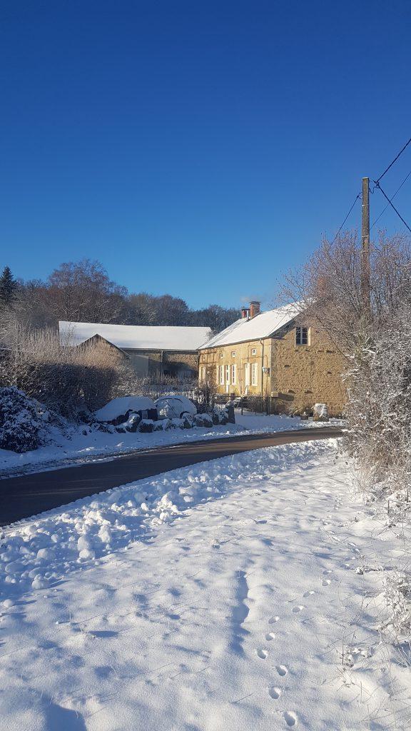 le brocard zon sneeuw huis